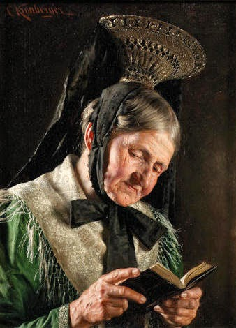 Kronberger, Carl - A Bavarian lady reading the Bible